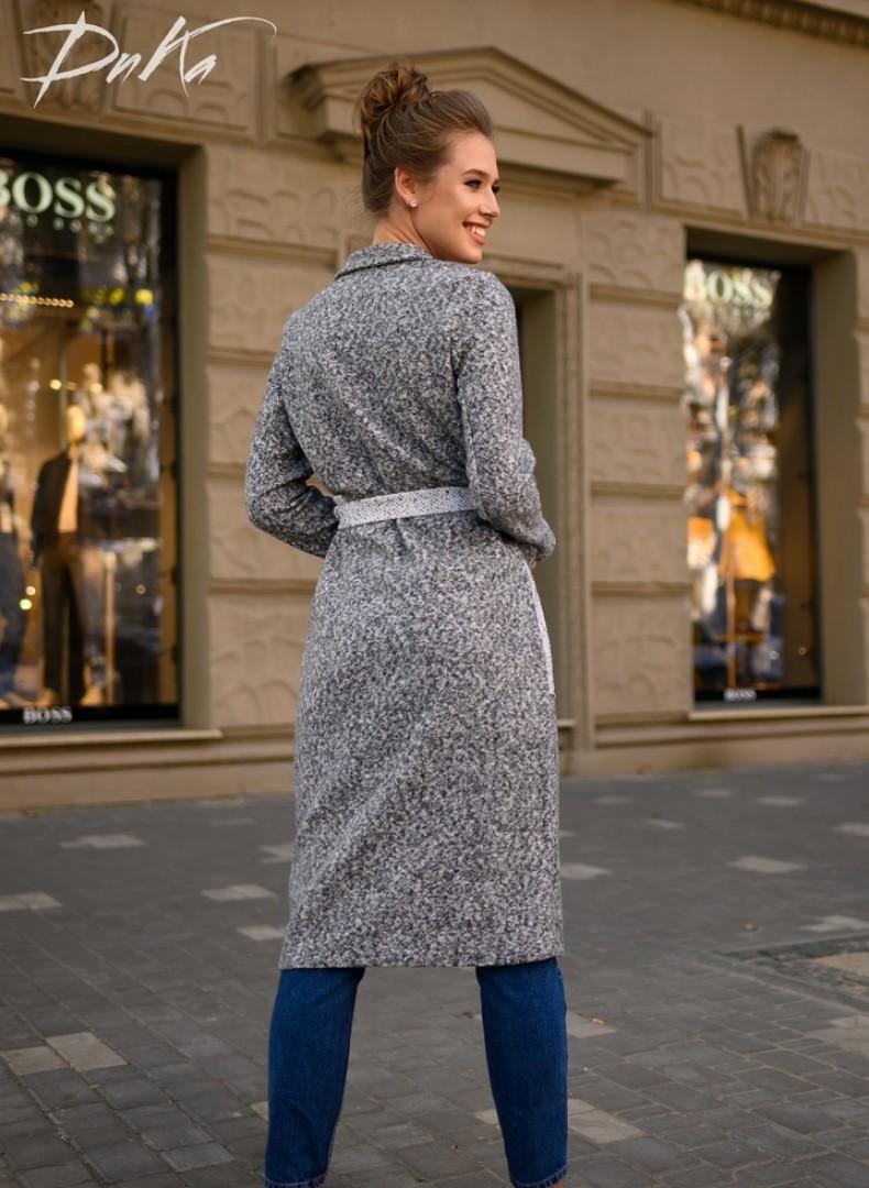 Пальто двухцветное