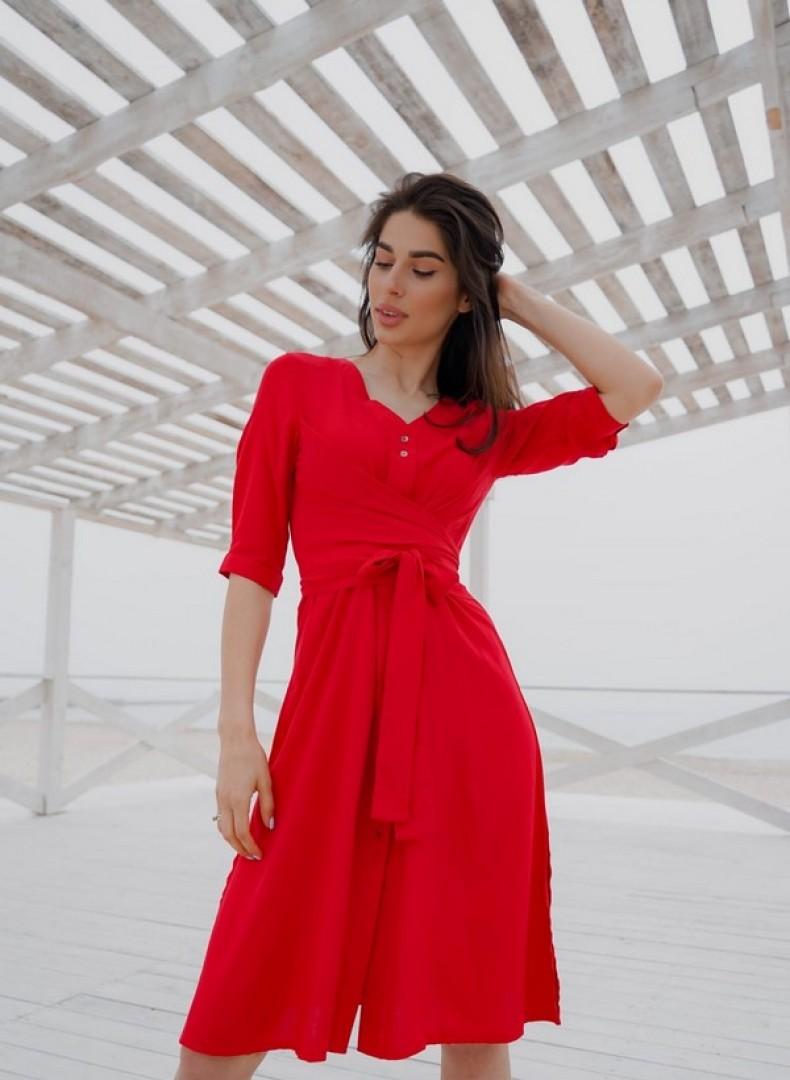 Платье с перекрутом