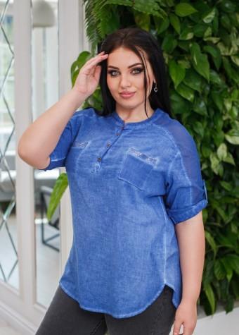 Блуза с кармашками